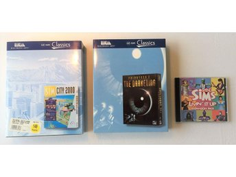 3 st PC-spel Big Box - Sim City 2000, Privateer 2, Sims Livin it up expansion