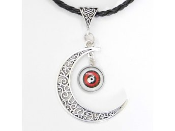 Ögonglob Måne Halsband / Eyeball Moon Necklace