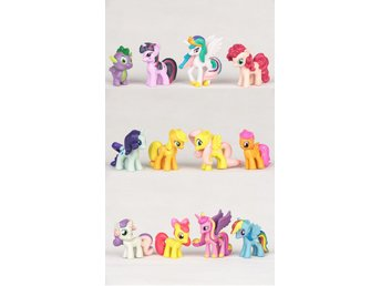 12 st My Little Pony Set Pack Figurer Hästar leksaker
