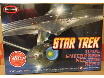 USS ENTERPRISE NCC-1701 REFIT STAR TREK      1/1000  POLAR LIGHTS byggsats