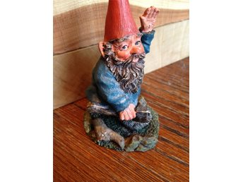 Gnomes Rien Poortvliet original, made in Holland.Trolltyg i tomteskogen. Peter