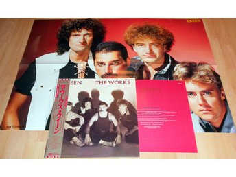 QUEEN - THE WORKS JAPAN LP W. OBI+POSTER+INSERT 1984