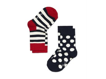 Happy Socks 2-pack barnstrumpor Stripes (4-9 mån)