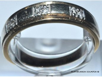 1 ring vit/röd 18k briljanter 2,5 gr Ø 17 mm B 2-4 mm, V9649