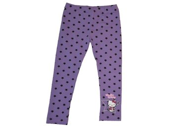 *NYA* Hello Kitty leggings byxor lila stl. 128/134