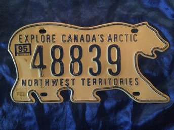 Canada license plate NW territories