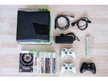 Xbox 360 Slim 250 GB inkl 14 spel och tillbehör - Lund - Xbox 360 Slim 250 GB inkl 14 spel och tillbehör - Lund