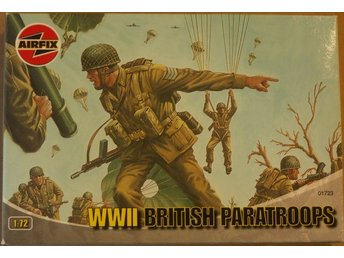 WWII BRITISH PARATROOPERS     AIRFIX  1/72 Byggsats