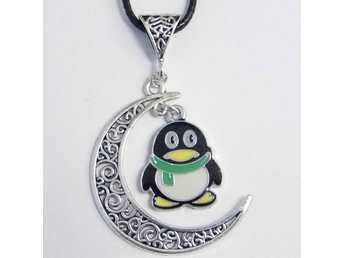 Pingvin måne halsband / Penguin moon necklace
