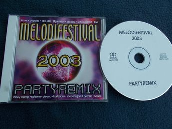V/A MELODIFESTIVAL 2003 PARTYREMIX CD M&L Records Barbados Clamp Jill Johnson mm