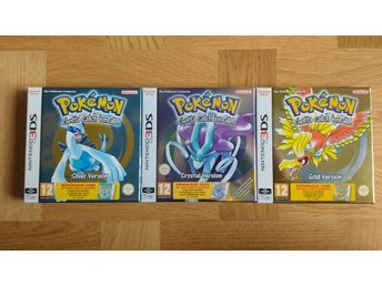 TOMBOXAR EJ SPEL Pokemon Gold + Silver + Crystal