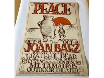 JOAN BAEZ GRATEFUL DEAD MARIN COUNTY CALIFORNIA 1966 POSTER