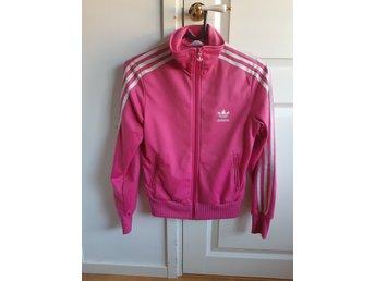 Adidas, zip, stl 38, rosa, retro, vintage, stripes, tröja, jacka, träning