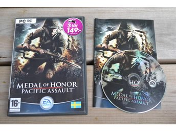 Medal of Honor Pacific Assault (Svensk Utgåva) PC DVD Komplett Fint Skick