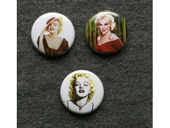Marilyn Monroe, pin/badge 25mm