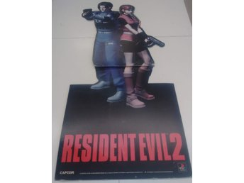 Resident Evil 2 Promotional Store Item Standee Heroes (Pick-up From The Store It