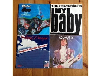 4st. Singlar..Status Quo - The Pretenders - Prince - Steel Breeze