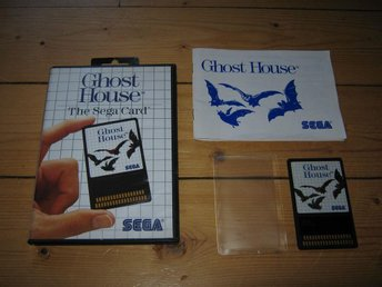 SEGA MS/PAL: Ghost House - Sega Card (komplett) - Insjön - SEGA MS/PAL: Ghost House - Sega Card (komplett) - Insjön