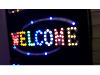 WELCOME LED-skylta 45x26 cm