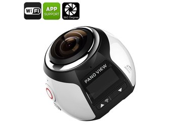 360 Degree 4K Action Camera - Panoramic Footage, 30M Waterproof Case, 16MP, FHD