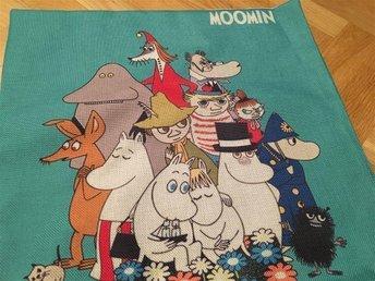 Helt NYTT Mumin Moomin kuddfodral i linne 45x45cm - Uppsala - Helt NYTT Mumin Moomin kuddfodral i linne 45x45cm - Uppsala