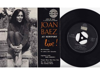 JOAN BAEZ - AT NEWPORT LIVE - EP 1965