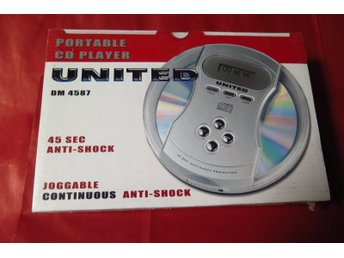 CD SPELARE,CD PLAYER,UNITED DM 4587,BÄRBAR CD SPELARE,