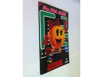 SNES - Manualer: Ms. Pac-Man (Endast manual)