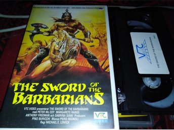 Sword of the barbarians (1982) svensk rental hyr Vtc