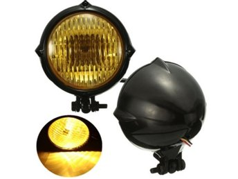 35W 12V Motorcycle Headlight H4 Amber Light Headlamp For ...