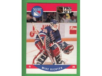 1990-91 Pro Set #627 Mike Richter RC New York Rangers
