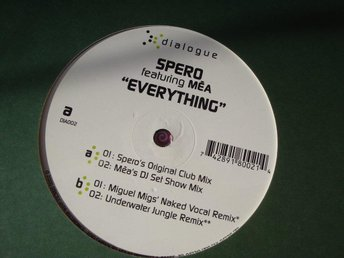 "SPERO feat. MEA - EVERYTHING 12"" ELECTRONIC 2000"