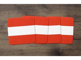 Österrike Flagga Coasters 4 Pack Underlägg Underlag Austria - Kuala Lumpur - Österrike Flagga Coasters 4 Pack Underlägg Underlag Austria - Kuala Lumpur