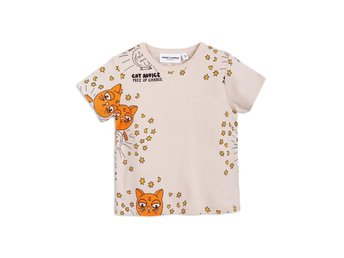 Mini Rodini Cat advice ss Tee-Stl: 104/110-nyskick!