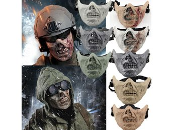 Mask ansiktsmask Halloween maskerad paintball - Black