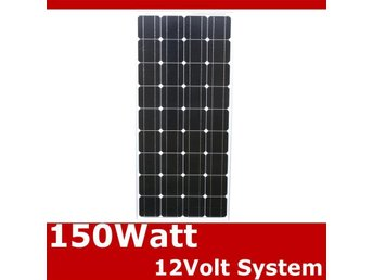 Solpanel Solcell Solfångare 150W *NY A Grade MonoCrystalline