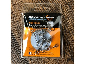 SAVAGE GEAR Tail bait cork screw kit – Oöppnad förpackning