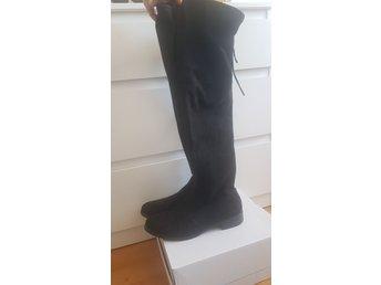 Knähöga boots utan klack! 38