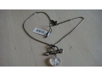 Dyrberg Kern halsband, RYTINNE, gun metall, hänge, kristaller, oanvänt - Kastrup - Dyrberg Kern halsband, RYTINNE, gun metall, hänge, kristaller, oanvänt - Kastrup