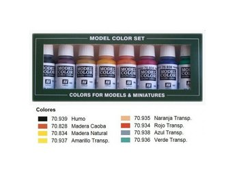 Vallejo Model Color Transparent Colors Set (x8)
