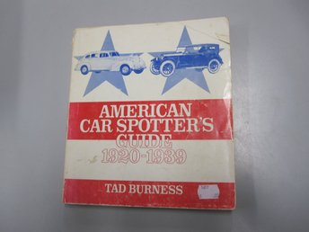 American Car Spotters guide 1920-1939