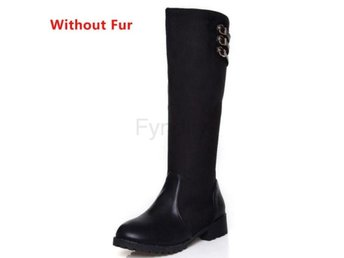 Dam Boots Plush Inside Shoes Feminina Bota black cloth 36