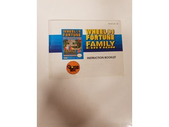 Wheel of Fortune Family Edition - Manual NES NINTENDO - USA