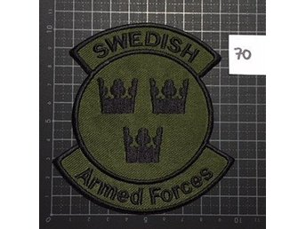 "#70 Tygmärke ""Swedish Armed Forces"" Grön"