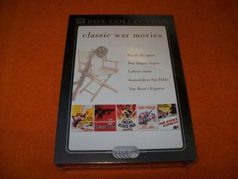 CLASSIC WAR MOVIES 5 ST FILMER (BOX COLLECTION) NY INPLASTAD