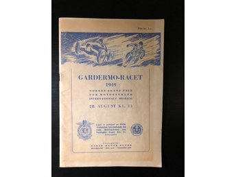 Program Gardermo Racet 1949 Norges Grand Prix mc