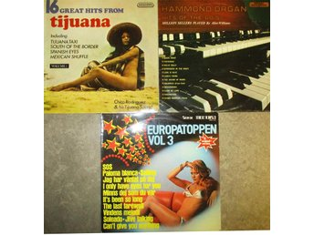 LP 1970-talspop 4 st - Hits from Tijuana , Hammond , Europatoppen