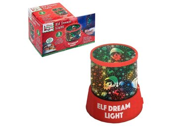 Christmas Elf Dream Night Light LED Projection Colour Change Elves Behavin Badly