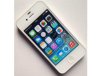 iPhone4-Telia--8Gb--Vit begagnad fungerar (339325626) ᐈ Köp på Tradera 9275d0ee14158