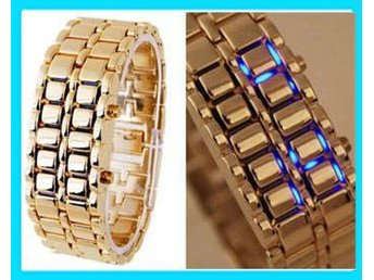 NYA! Golden Iron Samurai Cool Digital LED Klocka Armbandsur